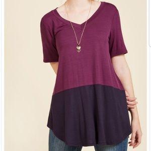 Modcloth Fervour Purple Top Small